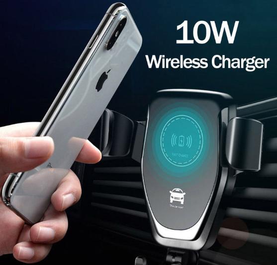 Suport de telefon auto cu incarcare wireless, GMO, 10W, negru 3