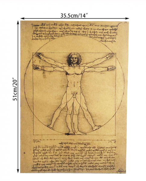 Poster roluit din hartie, GMO, Leonardo Da Vinci 1