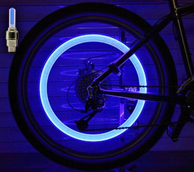 Set doua bucati capace ventil cu senzor, baterii si lumina LED albastra, RunGlow 5
