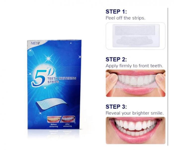 Set 14 benzi pentru albirea completa a dintilor, GMO, 5D White [2]