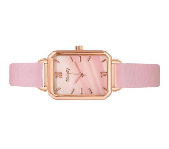 Ceas pentru fete cu bratara din piele, GMO, Galaty, roz [1]