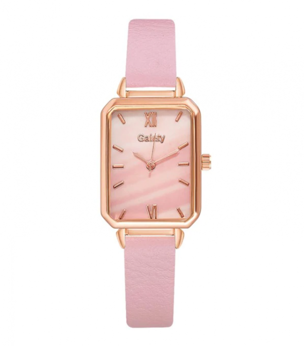 Ceas pentru fete cu bratara din piele, GMO, Galaty, roz [0]