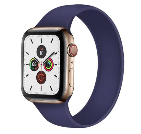Curea elastica pentru Apple Watch, LoopBracelet, ADM, silicon, 42-44mm, albastra [0]