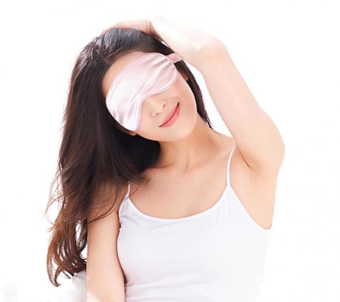 Masca de dormit din matase, GMO, Perfect Sleep, roz [3]