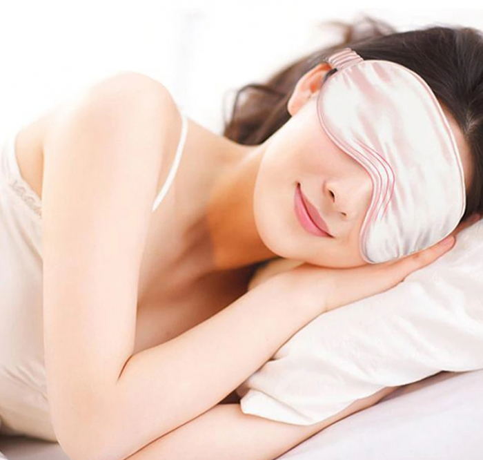 Masca de dormit din matase, GMO, Perfect Sleep, roz [5]