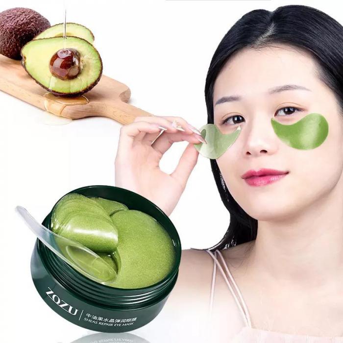 Masca hydrogel pentru ochi, ADM, cu extract de avocado, anticearcane, 60 bucati [5]