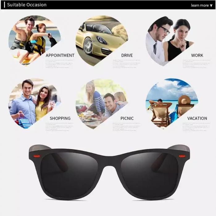 Ochelari de soare cu lentile polarizate, ADM, Darklenses, negri [3]