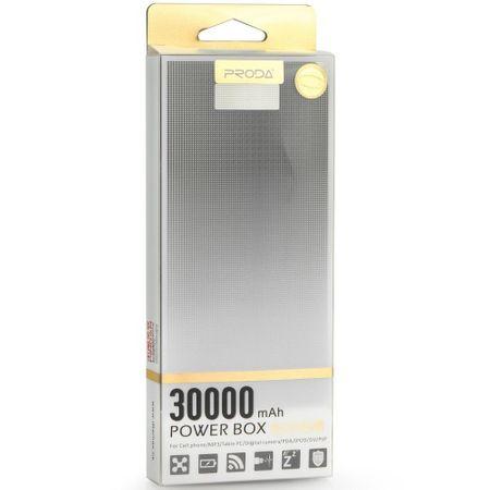 Baterie externa smart, GMO, Hardbox, 30000mAh, alba [2]