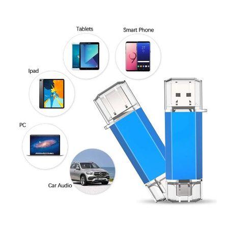 Stick de memorie cu USB 3.0 si USB Type C, GMO, albastru, 32GB 2
