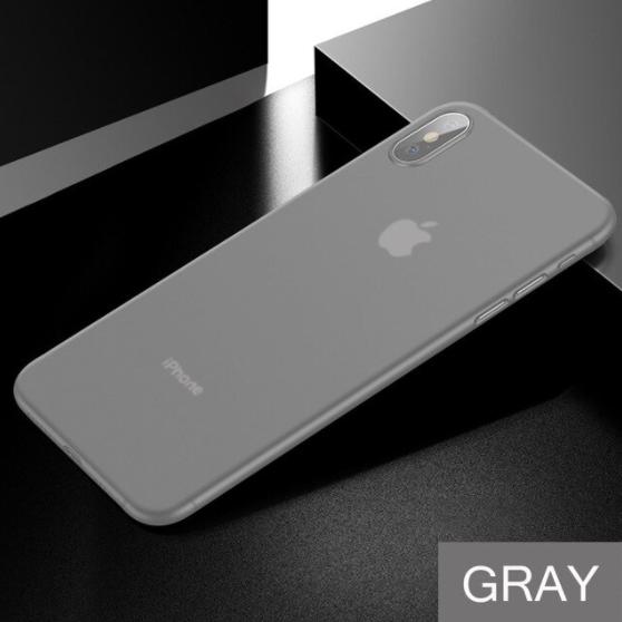 Husa mata pentru iPhone X, shockproof, anti amprenta, anti praf, gri translucida [2]