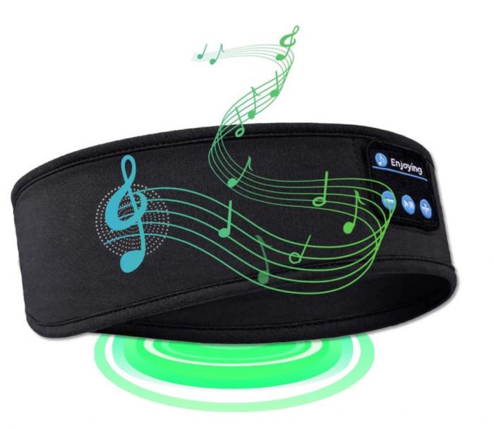 Bentita sport pentru alergat, GMO, Music & Run, cu bluethooth 5.0 si microfon incorporat, neagra [2]