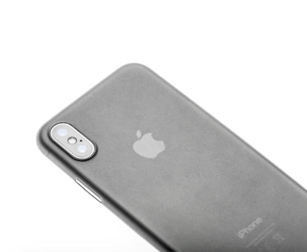 Husa mata pentru iPhone X, shockproof, anti amprenta, anti praf, gri translucida [3]