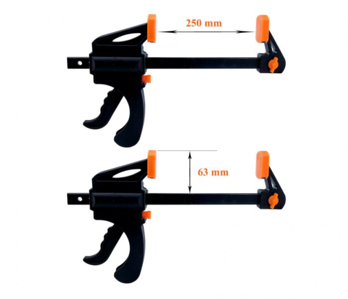 Dispozitiv de prindere ajustabil pentru tamplarie, GMO, Clamp, portocaliu [2]