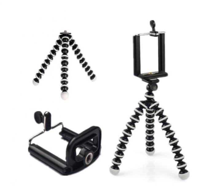 Suport creativ pentru telefonul mobil & mini trepied flexibil pentru aparatul foto sau telefon, GMO, Focus [3]
