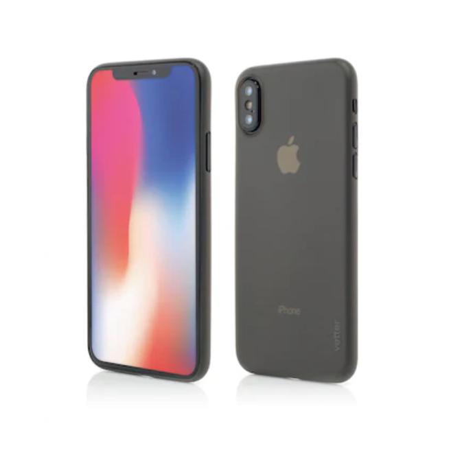 Husa mata pentru iPhone X, shockproof, anti amprenta, anti praf, gri translucida [0]