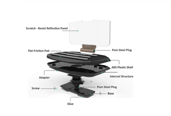 Suport auto pentru telefon de tip Head Up Display, GMO 6
