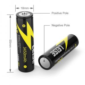 Baterie Li-Ion 3.7V 3450mah, GMO, Leise 18650, cu circuit de protectie1