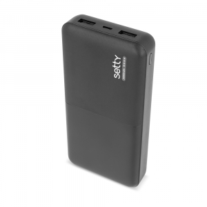 Power Bank 20000 mAh, GMO, Setty, negru0