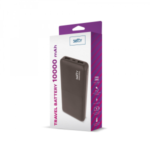 Power Bank 10000 mAh, GMO, Setty, negru1