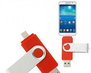Stick de memorie cu USB 2.0 si micro USB, GMO, 32GB, rosu3