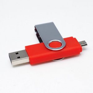 Stick de memorie cu USB 2.0 si micro USB, GMO, 32GB, rosu2