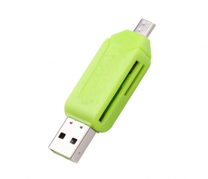 Card reader Memo Switch, USB 2.0 si microUSB, verde0