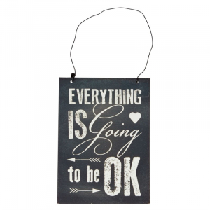 "Tablou cu mesaj motivational ""Everything Is going to be ok"", GMO0"