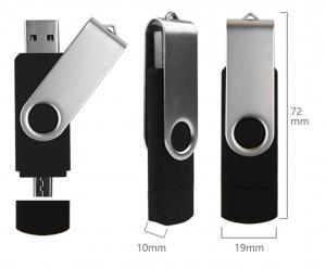 Stick de memorie USB 2.0 si micro USB, GMO, 32GB, negru3