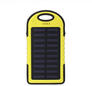 Baterie externa cu incarcare solara si LED, GMO, Solar Charger, 8000 mAh0