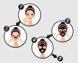 Masca de fata, GMO, Black Mask Pil, pentru cosuri si puncte negre3