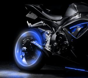 Set doua bucati capace ventil cu senzor, baterii si lumina LED albastra, RunGlow3