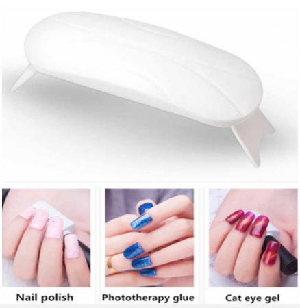 Lampa UV cu 3 LED-uri pentru unghii cu gel, Mini-Simply1
