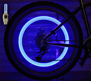 Set doua bucati capace ventil cu senzor, baterii si lumina LED albastra, RunGlow5