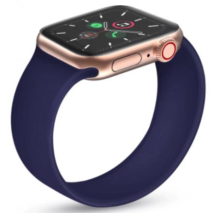 Curea elastica pentru Apple Watch, LoopBracelet, ADM, silicon, 42-44mm, albastra [1]