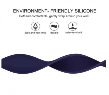 Curea elastica pentru Apple Watch, LoopBracelet, ADM, silicon, 42-44mm, albastra [2]