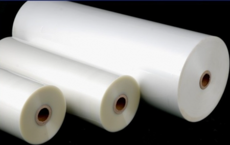 Folie de laminat in rola 330 mm x 200 m x 30 microni, aspect de finisare mat catifelat, 25 mm interior rola1