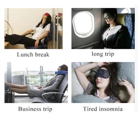 Masca de dormit din matase, GMO, Perfect Sleep, roz [6]