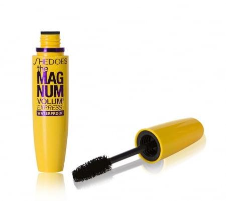 Mascara pentru volumul genelor, rezistent la apa, GMO, MagNum Volum 4D, negru [0]