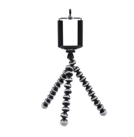Suport creativ pentru telefonul mobil & mini trepied flexibil pentru aparatul foto sau telefon, GMO, Focus [1]