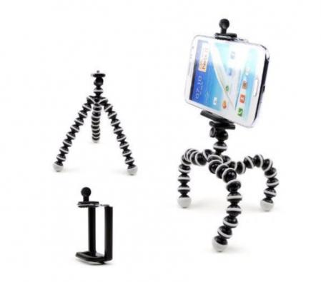 Suport creativ pentru telefonul mobil & mini trepied flexibil pentru aparatul foto sau telefon, GMO, Focus [2]