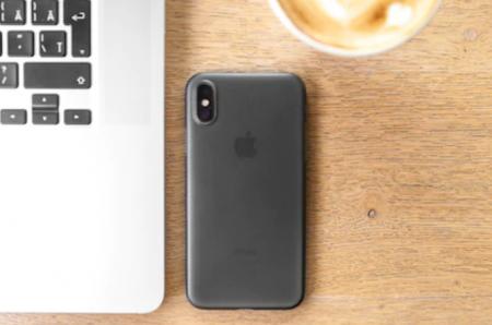 Husa mata pentru iPhone X, shockproof, anti amprenta, anti praf, gri translucida [4]
