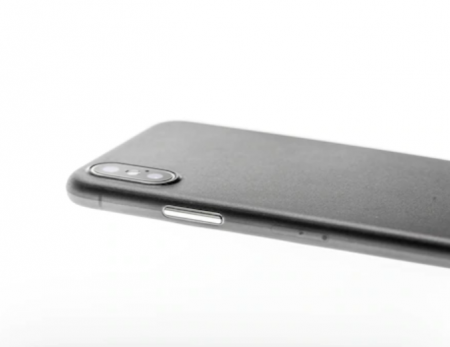 Husa mata pentru iPhone X, shockproof, anti amprenta, anti praf, gri translucida [5]