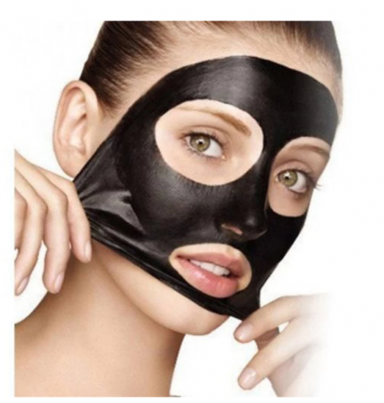 Masca neagra pentru fata impotriva cosurilor si punctelor negre, GMO, Bioaqua, 50 ml [4]