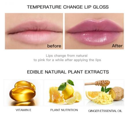 Mini capsula lipstick, GMO, Pudaier, hidratanta, termocromica, 4.5ml [4]