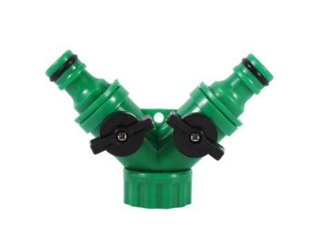 """Valva adaptoare pentru robinet cu doua iesiri 3/4"""", verde1"""