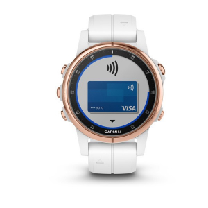 Ceas Garmin Fenix 5S Plus Sapphire Rose Gold, White Band5