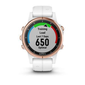 Ceas Garmin Fenix 5S Plus Sapphire Rose Gold, White Band6
