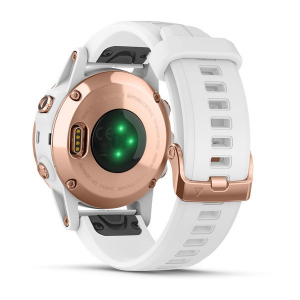 Ceas Garmin Fenix 5S Plus Sapphire Rose Gold, White Band4