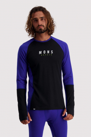 First Layer Mons Royale Olympus 3.0 LS Ultra Blue / Black [0]