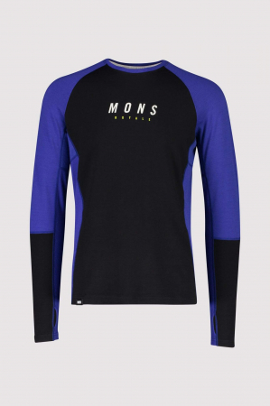 First Layer Mons Royale Olympus 3.0 LS Ultra Blue / Black [4]
